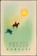 """Movie Posters:Miscellaneous, Puszta Hungary (1930s). Hungarian Travel Poster (23.5"""" X 35"""") György Kling Artwork. Miscellaneous.. ..."""