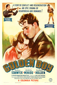 "Golden Boy (Columbia, 1939). One Sheet (27"" X 41"")"