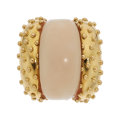 Estate Jewelry:Rings, Coral, Gold Ring, David Webb. ...