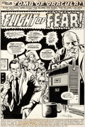 """Original Comic Art:Complete Story, Gene Colan and Tom Palmer Tomb of Dracula #36 Complete18-Page Story """"Flight of Fear!"""" Origi..."""