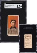 Baseball Cards:Singles (Pre-1930), 1909-11 T206 Hindu-Brown Joe Tinker (Portrait) SGC Fair 1....