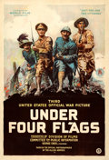 "Movie Posters:Documentary, Under Four Flags (World Film Corporation, 1918). One Sheet (28"" X41.25"") Philip Martiny Artwork.. ..."