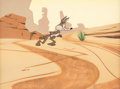 Animation Art:Production Cel, Russian Roulette Wile E. Coyote Production Cel and MasterProduction Background (Warner Brothers, 1964)....