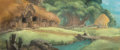 Animation Art:Painted cel background, The Black Cauldron Wizard's Cottage Painted Pan Background (Walt Disney, 1985)....
