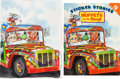 Animation Art:Production Drawing, Muppets on the Road Sticker Stories Book Front Cover Illustration Original Art by Rick Brown (Jim Henson Associates/Gr... (Total: 2 Items)