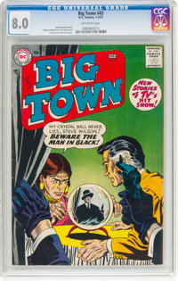 Big Town #43 (DC, 1957) CGC VF 8.0 Off-white pages
