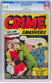 Crime Smashers #6 (Ribage Publishing, 1951) CGC VG/FN 5.0 Cream to off-white pages