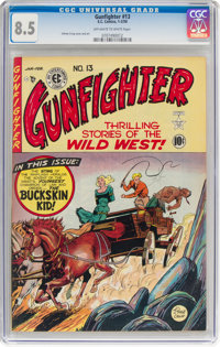 Gunfighter #13 (EC, 1950) CGC VF+ 8.5 Off-white to white pages