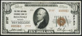 National Bank Notes:Virginia, Roanoke, VA - $10 1929 Ty. 2 The First National Exchange Bank Ch. #2737 Very Fine-Extremely Fine.. ...