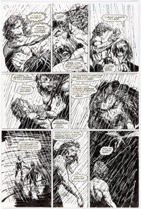 Barry Windsor-Smith and John Floyd Rune #5 Story Page 23 Enhanced Original Art (Malibu, 1994