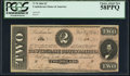 Confederate Notes:1864 Issues, T70 $2 1864 PF-3 Cr. 570 PCGS Choice About New 58PPQ.. ...