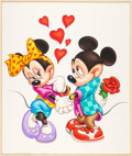 Animation Art:Production Drawing, Mickey and Minnie - Mouse Love Poster Illustration Original Art (Walt Disney, c. 1980s-90s)....