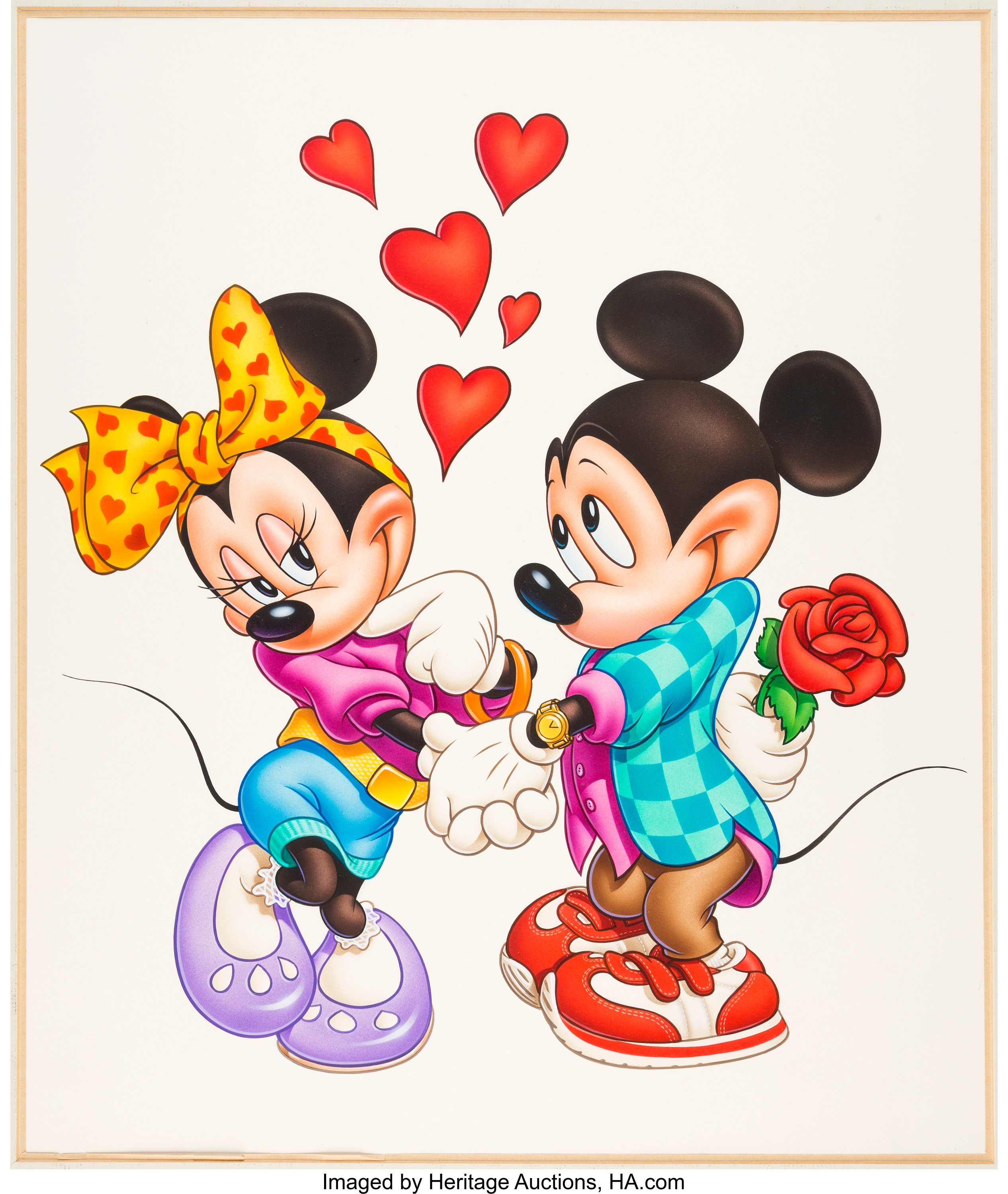 Mickey And Minnie Mouse Love Poster Illustration Original Art Lot 97036 Heritage Auctions