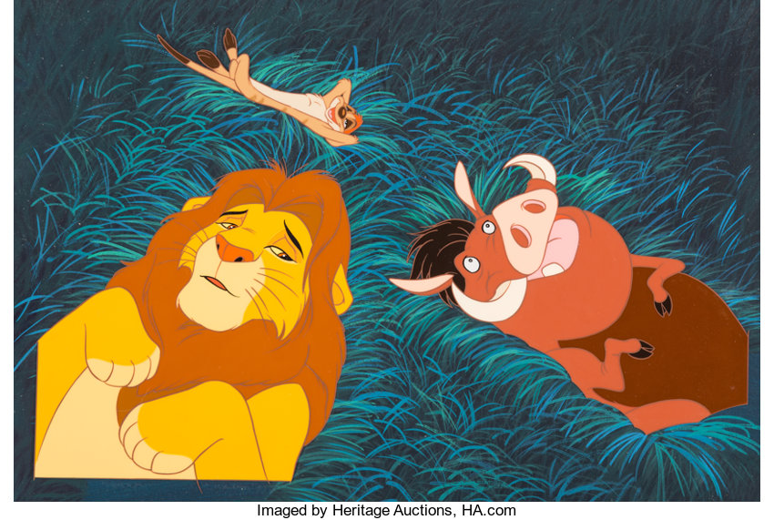 The Lion King Childrens Book Illustration Cel And Key