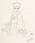 Animation Art:Production Drawing, Evil Queen Drawing by Ed Fourcher Original Art (Walt Disney, date unknown)....