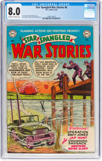 Star Spangled War Stories #6 (DC, 1953) CGC VF 8.0 Off-white to white pages