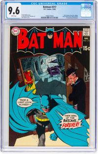 Batman #217 (DC, 1969) CGC NM+ 9.6 White pages