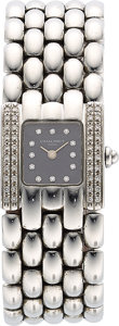 Estate Jewelry:Watches, Chaumet Lady's Diamond, Stainless Steel Khesis Watch. ...