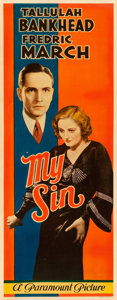 "Movie Posters:Drama, My Sin (Paramount, 1931). Insert (14"" X 36"").. ..."