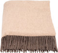 """Luxury Accessories:Home, Hermès Taupe & Etain Cashmere Blanket. 55"""" Width x 69"""" Height. Condition: 1. ..."""