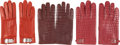 Luxury Accessories:Accessories, Hermès Set of Three: Assorted Red Gloves. Condition: 2. See Extended Condition Report for Sizes. ... (Total: 3 Items)