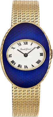 Bueche Girod Lady's Enamel, Gold Watch