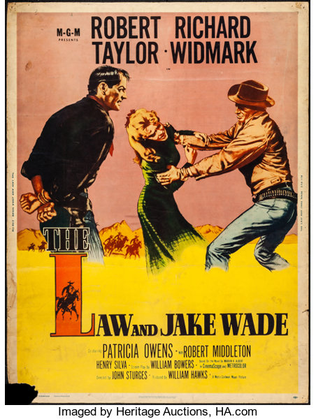 The Law /& Jake Wade Robert Taylor Widmark movie poster