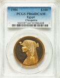 Egypt, Egypt: Republic gold Proof 100 Pounds AH 1404 (1984) PR64 DeepCameo PCGS,...
