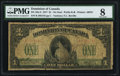 Canadian Currency, DC-23a-ii $1 1917 PMG Very Good 8.. ...