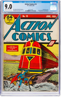 Action Comics #13 (DC, 1939) CGC VF/NM 9.0 Cream to off-white pages