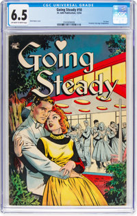 Going Steady #10 (St. John, 1954) CGC FN+ 6.5 Off-white to white pages