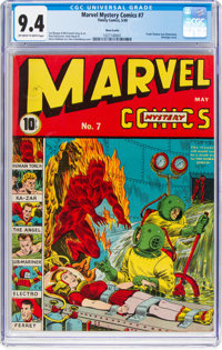 Marvel Mystery Comics #7 Nova Scotia Pedigree (Timely, 1940) CGC NM 9.4 Off-white to white pages