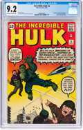 Silver Age (1956-1969):Superhero, The Incredible Hulk #3 (Marvel, 1962) CGC NM- 9.2 Off-white towhite pages....