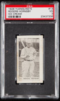 Baseball Cards:Singles (Pre-1930), 1928 Yuengling's Ice Cream Rogers Hornsby #13 PSA VG 3....