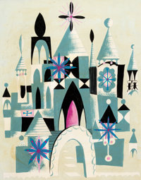 """""""It's a Small World"""" Concept Painting by Mary Blair (Walt Disney, 1964)"""