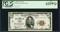 Fr. 1850-G $5 1929 Federal Reserve Bank Note. PCGS New 62PPQ