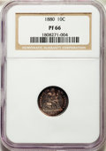 Proof Seated Dimes, 1880 10C F-101, R.3, PR66 NGC....