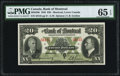 Canadian Currency, Canada Montreal, PQ- Bank of Montreal $20 Jan. 3, 1938 Ch. # 505-62-06 PMG Gem Uncirculated 65 EPQ.. ...