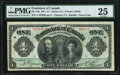 Canadian Currency, Canada DC-18a $1 1911 PMG Very Fine 25.. ...