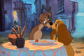 "Animation Art:Limited Edition Cel, Lady and the Tramp ""Beautiful Night"" Limited Edition Cel#1/1 (Walt Disney, 1997)...."