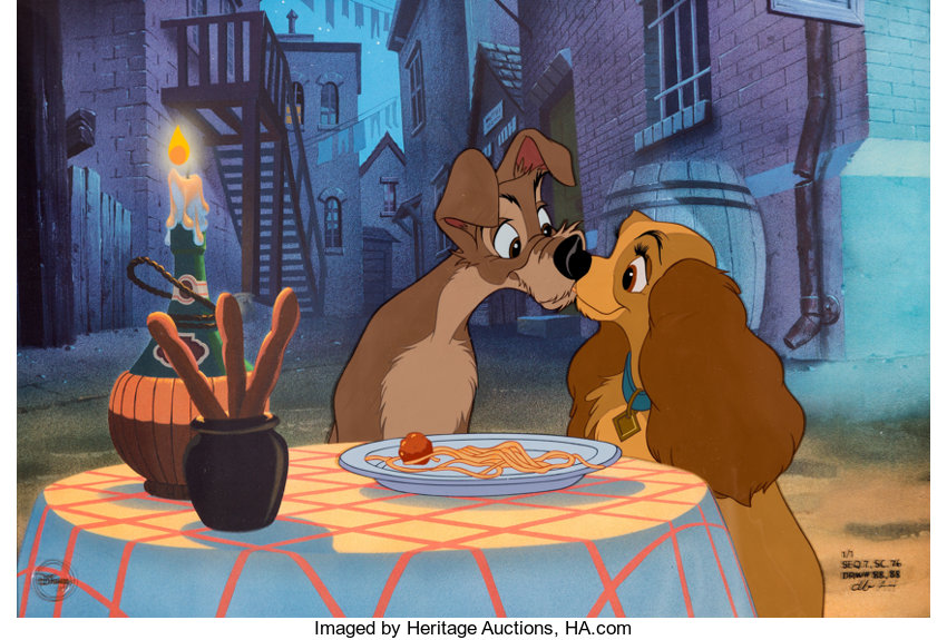 Lady And The Tramp Beautiful Night Limited Edition Cel 1 1 Walt Lot 95116 Heritage Auctions