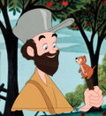Animation Art:Production Cel, Melody Time Johnny Appleseed Production Cel (Walt Disney,1948)....