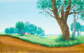 Animation Art:Painted cel background, Mary Poppins Painted Preliminary Background Original Art(Walt Disney, 1964)....