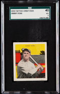 Baseball Cards:Singles (1930-1939), 1933 Tattoo Orbit Jimmy Foxx SGC 40 VG 3....