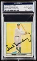 "Autographs:Sports Cards, Signed Dover Reprint ""1941 Play Ball"" Hank Greenberg #18 PSA/DNA Authentic. ..."