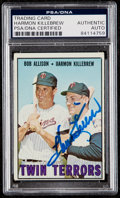 Autographs:Sports Cards, Signed 1967 Topps Twin Terrors Allison/Killebrew #334 PSA/DNA Authentic. ...