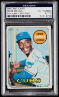 Autographs:Sports Cards, Signed 1969 Topps Ernie Banks #20 PSA/DNA Authentic. ...