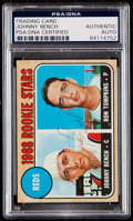Autographs:Sports Cards, Signed 1968 Topps Johnny Bench - Reds Rookies #247 PSA/DNAAuthentic. ...