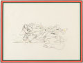 Animation Art:Production Drawing, Snow White and the Seven Dwarfs Sneezy and Forest CreaturesAnimation Drawing (Walt Disney, 1937). ...