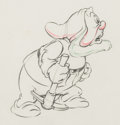 Animation Art:Production Drawing, Snow White and the Seven Dwarfs Happy Animation Drawing (Walt Disney, 1937).. ...